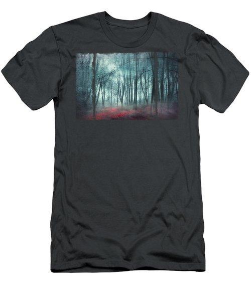 Escape Route - Misty Forest Scenery Men's T-Shirt (Athletic Fit)