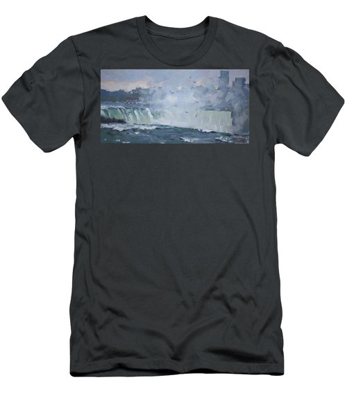 Evening At The Falls Men's T-Shirt (Athletic Fit)