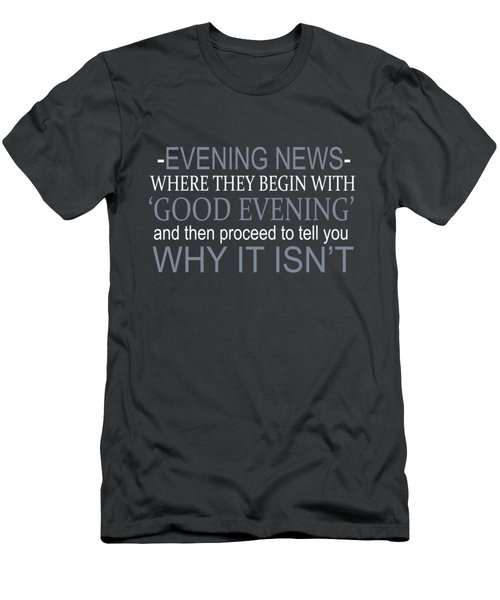 Evening News Men's T-Shirt (Athletic Fit)