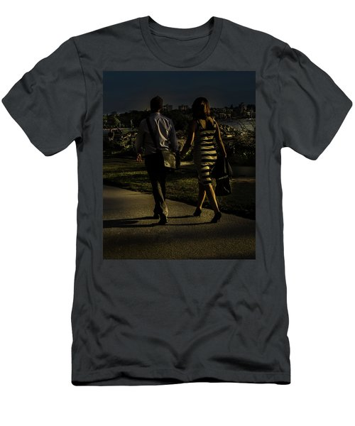 Evening Walk Men's T-Shirt (Athletic Fit)