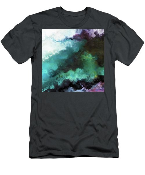 Men's T-Shirt (Athletic Fit) featuring the painting Exodus 14 14. The Lord Shall Fight For You by Mark Lawrence