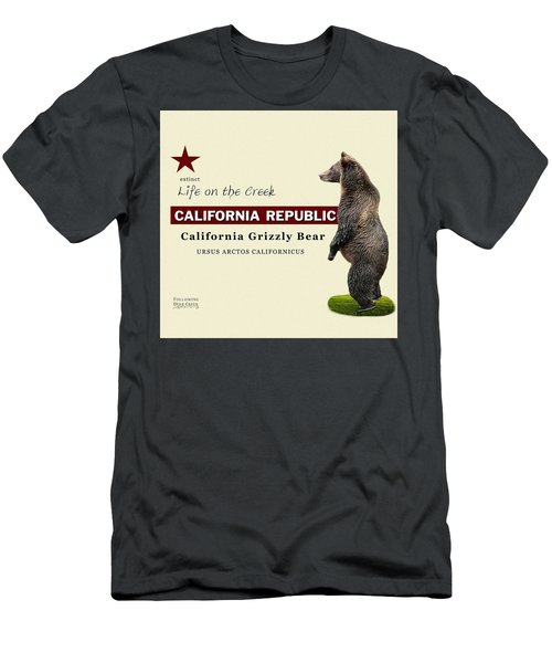 Extinct California Grizzly Bear Men's T-Shirt (Athletic Fit)