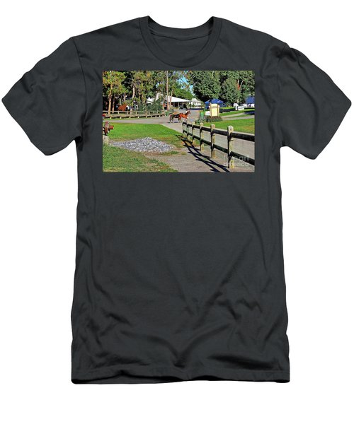 Fairgrounds In Rhinebeck New York Men's T-Shirt (Athletic Fit)