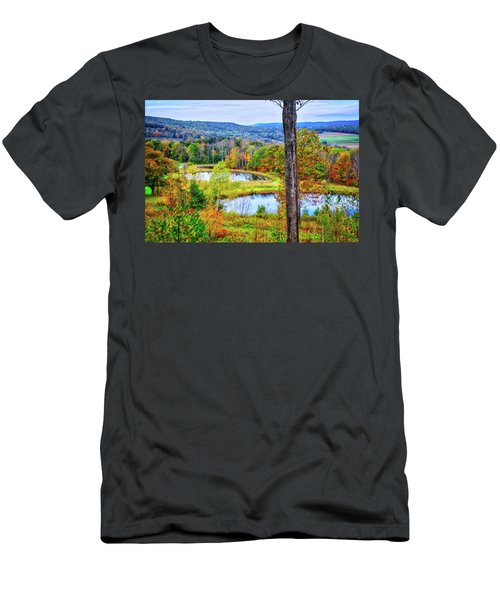 Men's T-Shirt (Athletic Fit) featuring the photograph Fall Memories At The Ponds by Lynn Bauer