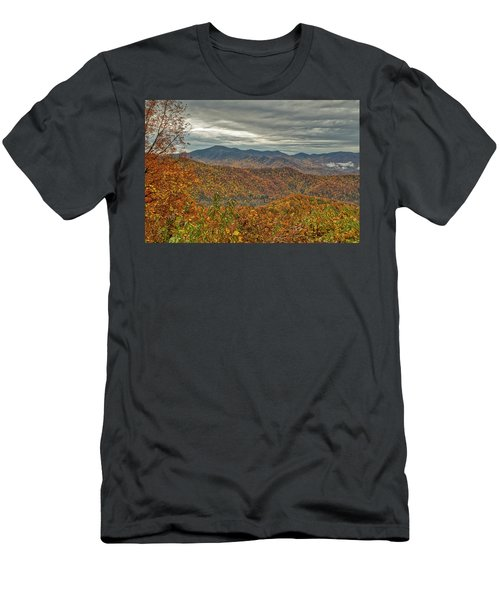 Men's T-Shirt (Athletic Fit) featuring the photograph Fall Overlook by Meta Gatschenberger