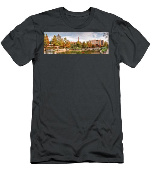 Fall Panorama Of Pearl Brewery, Hotel Emma, And San Antonio Riverwalk - Bexas County Texas Men's T-Shirt (Athletic Fit)