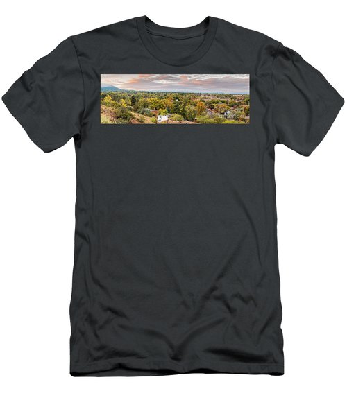 Fall Sunrise Panorama Of Santa Fe The City Different - New Mexico Land Of Enchantment  Men's T-Shirt (Athletic Fit)