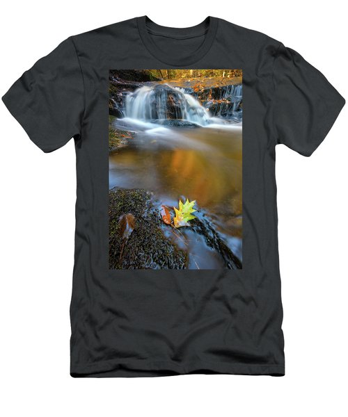 Men's T-Shirt (Athletic Fit) featuring the photograph Fallen Oak Leaf In Vaughan Woods by Rick Berk