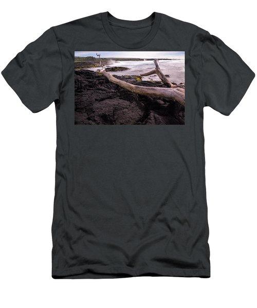 Fallen Tree At Punalu'u Beach Men's T-Shirt (Athletic Fit)