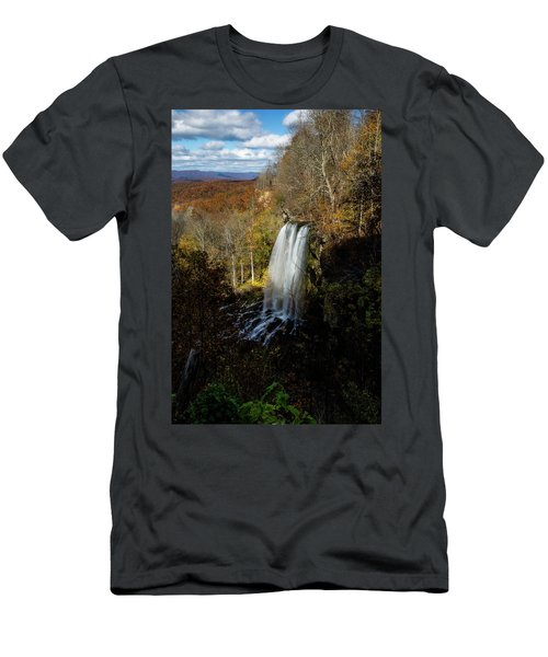 Men's T-Shirt (Athletic Fit) featuring the photograph Falling Spring Falls by Pete Federico