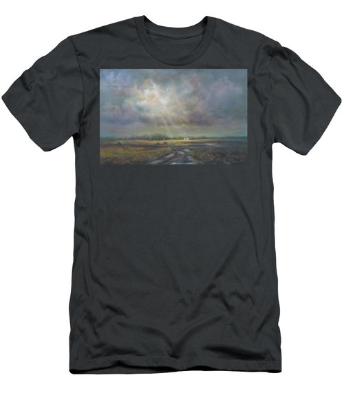 Farm In Spring Men's T-Shirt (Athletic Fit)