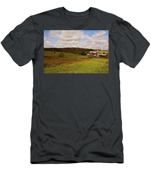 Men's T-Shirt (Athletic Fit) featuring the photograph Farmland In Autumn by Angie Tirado