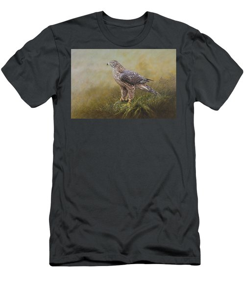 Female Goshawk Paintings Men's T-Shirt (Athletic Fit)