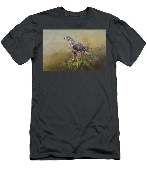 Female Goshawk Paintings Men's T-Shirt (Athletic Fit)