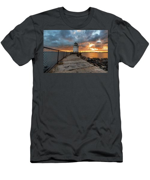 Fiery Skies At Bug Light Men's T-Shirt (Athletic Fit)
