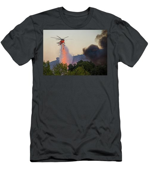 Men's T-Shirt (Athletic Fit) featuring the photograph Fighting Fire With Fire by Lynn Bauer