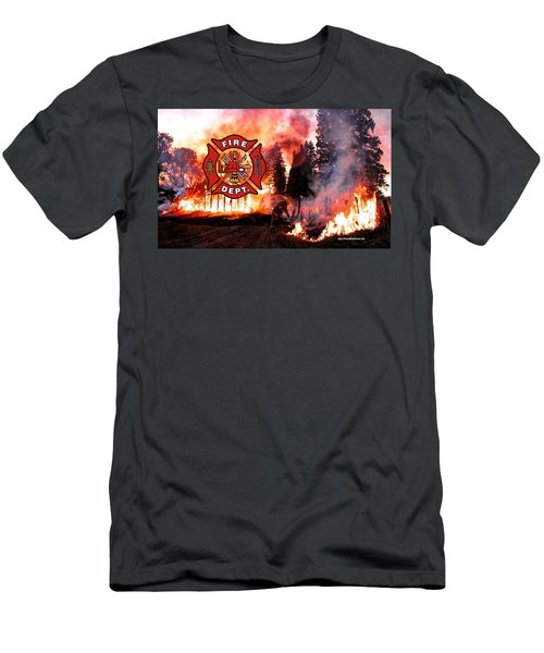 Fire Fighting 3 Men's T-Shirt (Athletic Fit)