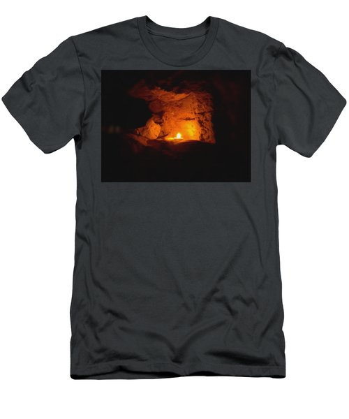 Men's T-Shirt (Athletic Fit) featuring the photograph Fire Inside by Lucia Sirna