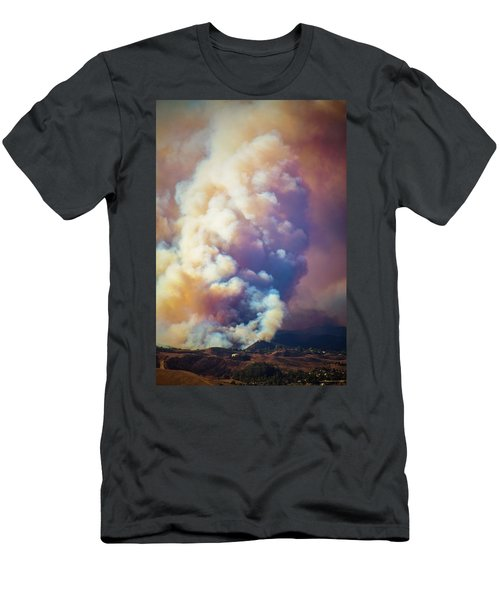 Men's T-Shirt (Athletic Fit) featuring the photograph Fire Power by Lynn Bauer
