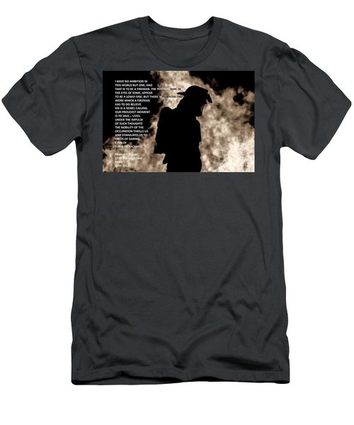 Firefighter Poem Men's T-Shirt (Athletic Fit)