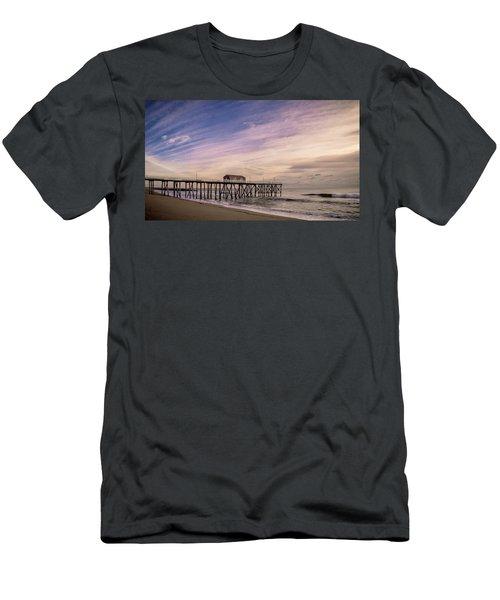 Fishing Pier Sunrise Men's T-Shirt (Athletic Fit)
