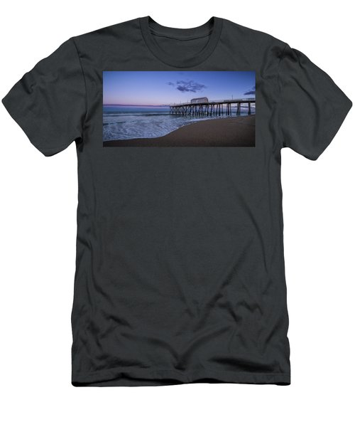 Fishing Pier Sunset Men's T-Shirt (Athletic Fit)