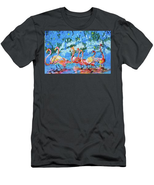 Flamingo Pat Party Men's T-Shirt (Athletic Fit)