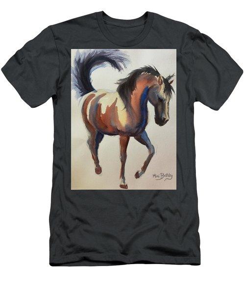 Flashing Bay Horse Men's T-Shirt (Athletic Fit)