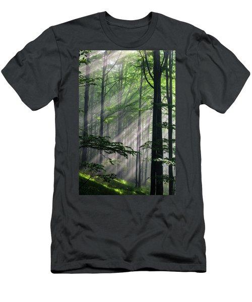 Fleeting Beams Men's T-Shirt (Athletic Fit)