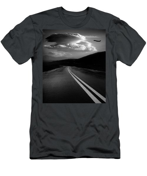 Men's T-Shirt (Athletic Fit) featuring the photograph Flight Path by John Rodrigues