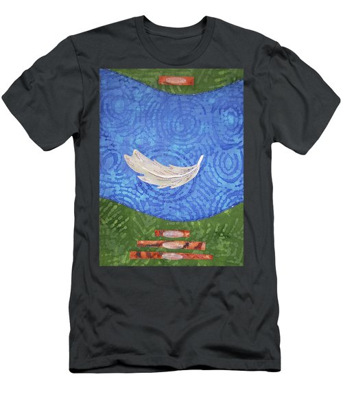 Floating Feather Men's T-Shirt (Athletic Fit)