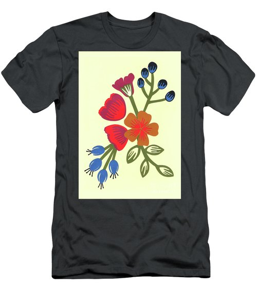 Flora, Cut Paper Men's T-Shirt (Athletic Fit)