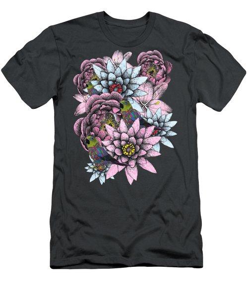 Floral Fantasy  Men's T-Shirt (Athletic Fit)