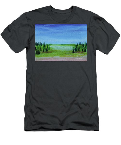 Men's T-Shirt (Athletic Fit) featuring the painting Florid Forest by Kim Nelson