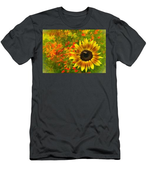 Flower Explosion Men's T-Shirt (Athletic Fit)