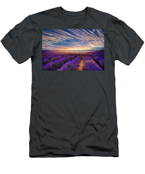 Flower Landscape Men's T-Shirt (Athletic Fit)