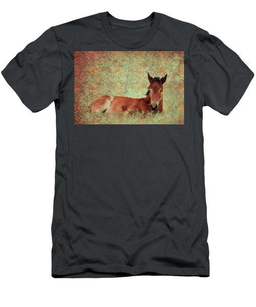 Flowery Foal Men's T-Shirt (Athletic Fit)