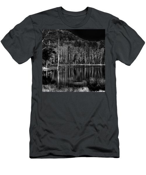 Men's T-Shirt (Athletic Fit) featuring the photograph Fly Pond Reflection by David Patterson