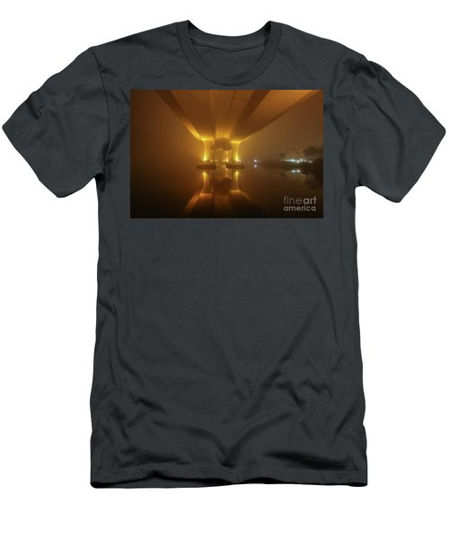 Foggy Bridge Glow Men's T-Shirt (Athletic Fit)