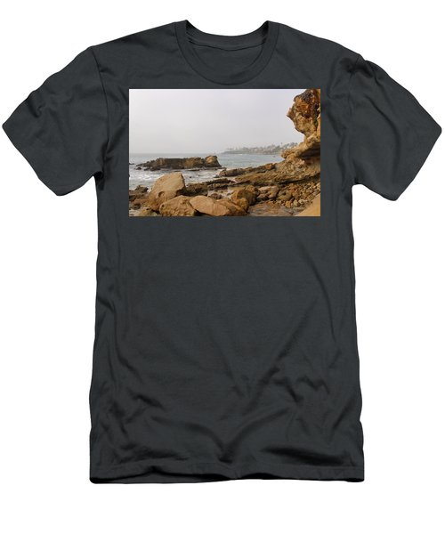 Men's T-Shirt (Athletic Fit) featuring the photograph Foggy Laguna Beach by Brian Eberly