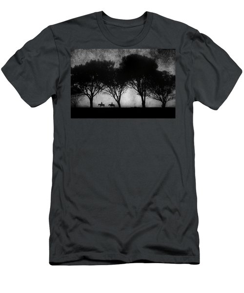 Foggy Morning Ride Men's T-Shirt (Athletic Fit)