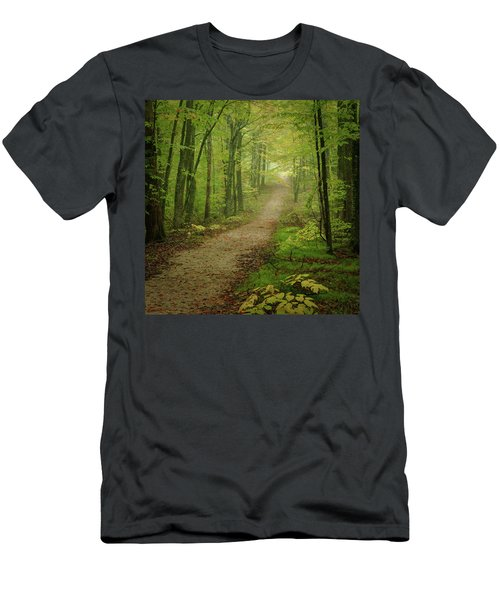 Foggy Path Men's T-Shirt (Athletic Fit)