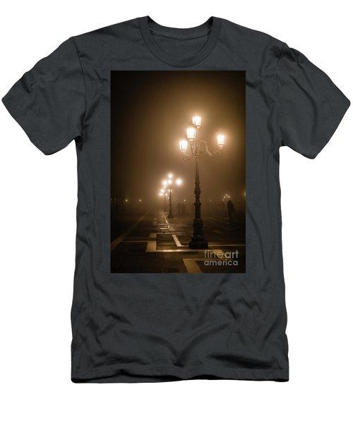 Foggy Piazza San Marco, Venice Men's T-Shirt (Athletic Fit)