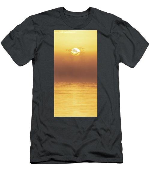 Foggy Wetlands Sunrise Men's T-Shirt (Athletic Fit)
