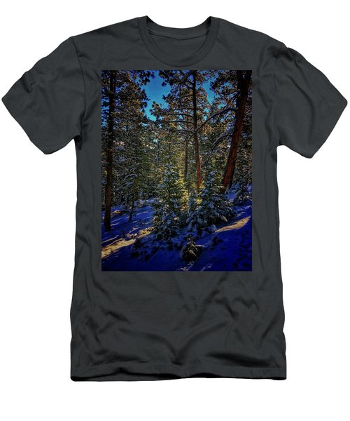 Men's T-Shirt (Athletic Fit) featuring the photograph Forest Shadows by Dan Miller