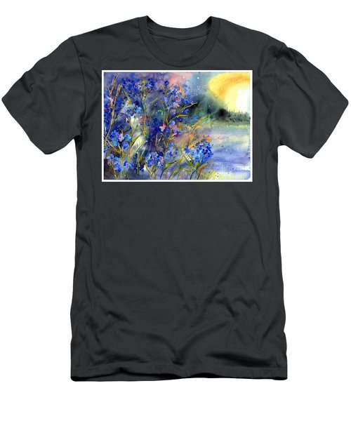 Forget-me-not Watercolor Men's T-Shirt (Athletic Fit)