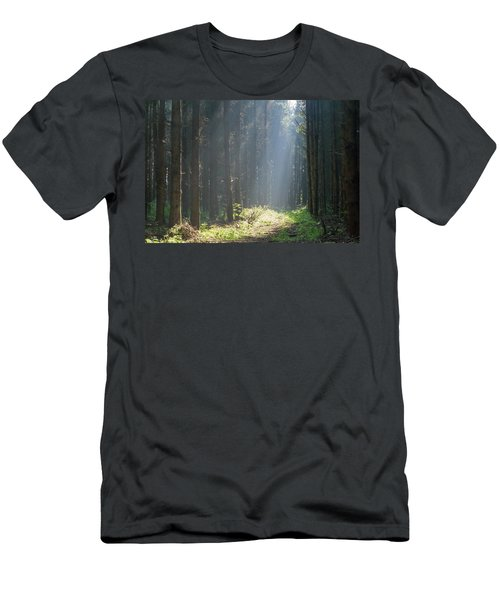 Men's T-Shirt (Athletic Fit) featuring the photograph Forrest And Sun by Anjo Ten Kate