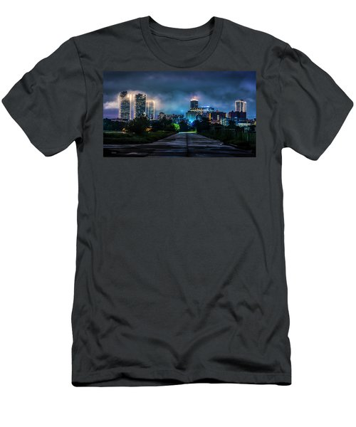 Men's T-Shirt (Athletic Fit) featuring the photograph Fort Worth Lights by David Morefield