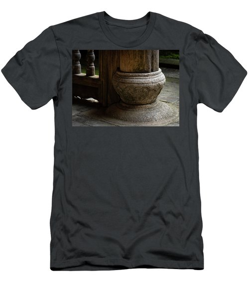 Foundation Stone Under Wooden Pole Used In Chinese Architecture Men's T-Shirt (Athletic Fit)