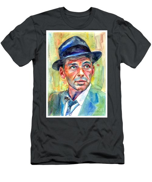 Frank Sinatra Wearing A Fedora Men's T-Shirt (Athletic Fit)